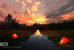 along the little river by joecas  aftersun river sunset joecas