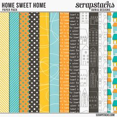 FREE Home Sweet Home Papers by Dunia Designs