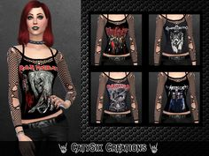 The walking Dead Sims 4 Sims 4 Cas, My Sims, Sims Cc, Sims 4 Mods Clothes, Sims 4 Clothing, Goth Clothes, Sims Pets, Sims 4 Family, Rock And Roll