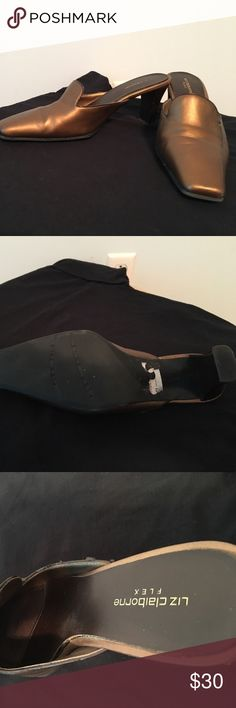 Liz Claiborne leather flex mules Lightly worn no athletes foot or toe fungus Liz Claiborne Shoes Mules & Clogs