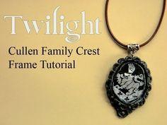 Twilight polymer clay charm necklace tutorial