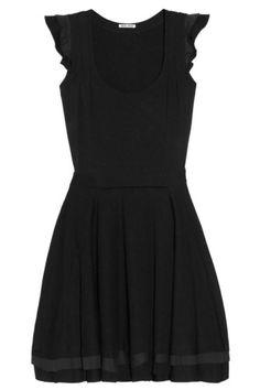 Miu Miu black dress, $780, netaporter.com.