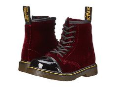 Dr. Martens Kid's Collection Bunny (Toddler) Black/Cherry Red Patent Lamper/Ze You Velvet - Zappos.com Free Shipping BOTH Ways