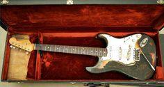 Jimi Hendrix's burnt 1965 Stratocaster