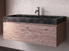 lavabo purestone recife 100x49xh10 nero
