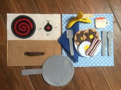 Cooking Breakfast Quiet Book Page by HannasQuietBooks on Etsy