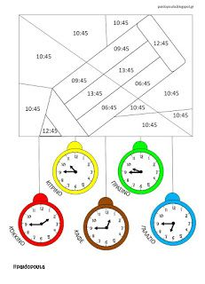 Doula, School Frame, Telling Time, Worksheets, Homeschool, Clock, Maths, Ideas, Color Crafts