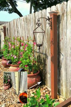 Build a wooden post topped with a solar powered post cap, and then hanging up a large lantern to decorate it.