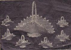 Crochet Basket Set Kit Seven Piece