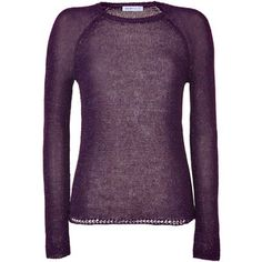 SEE BY CHLOÉ Plum Lurex Crew Neck Pullover