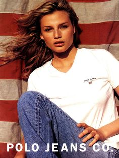 Ralph Lauren Polo Jeans campaign, 1996. Bridget Hall