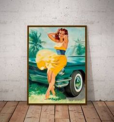 poster pinup 06 - 30x40 cm