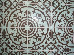 Cuban Heritage Design cement tile via Flickr.