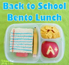 Back to School Fun Food Bento Lunch by Jill from Kitchen Fun with my 3 Sons. LivingLocurto.com #backtoschool #bento