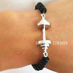 Find More Charm Bracelets Information about 10 pcs/lot Latest Fashion Gym Sport Crossfit Fitness Weightlifting Barbell Dumbbell Bracelet,High Quality bracelet agate,China bracelet bulls Suppliers, Cheap bracelet happiness from DSJ Company on Aliexpress.com