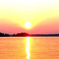 Beautiful sunset on the lake!