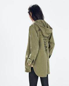 Image 4 of PARKA WITH ZIPS from Zara