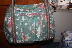 Back pocket and trolley sleeve on the back.  Ralph Lauren Fabric on the Departure Satchel Pattern.  Love it!!