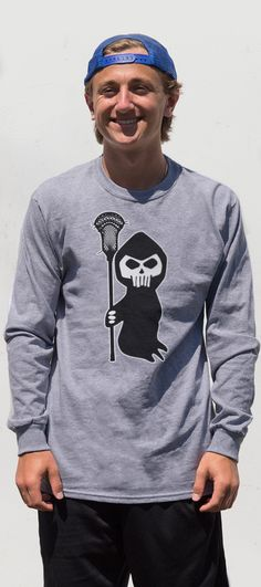 Our lacrosse reaper tee is a fun way to show off your love for both Halloween and lacrosse!