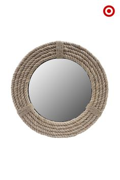 Nautical is back in a big way for spring. Get on board with this trend with coastal touches, like this rope-wrapped mirror. Whether hung alone or as a unique twist to a gallery wall of frames, the neutral color of this mirror makes it an easy add to any decor.