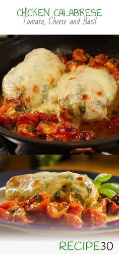 CHICKEN CALABRESE STYLE Chicken breast with fresh tomato, cheese and basil Calabrian cooking has always been a healthy style food due to it's simplicity and freshness. This dish is a style of Calabrese embracing fresh tomatoes, fresh basil and mozzarella cheese. It's super easy to make and the flavours reward you despite it's simplicity. A great under 30 minute meal.