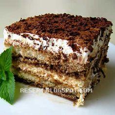 resep tiramisu Indonesian Food, Indonesian Recipes, Tiramisu Cake, Cake Bars, Brownie Cake, Easy Cake Recipes, Cake Cookies, Cupcakes, Cakes And More