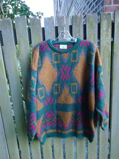 Vintage 1980s BENETTON Made in Italy Mohair Blend Pullover Sweater
