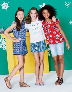 For holiday jetsetters, we'll make packing easy! Teenage Girl Outfits, Cute Girl Outfits, Tween Girls, Outfits For Teens, Preteen Fashion, Kids Fashion, Fashion Fashion, Fashion Outfits, Justice Clothing