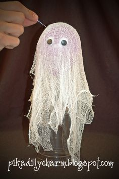 Pikadilly Charm: Halloween Crafts : cheesecloth ghosts