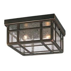 "Mission Hills 10 1/2"" Wide Indoor - Outdoor Ceiling Light -"