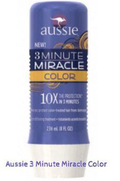 Aussie 3 Minute Miracle Color é um tratamento condicionador que ajuda a proteger os cabelos dos danos causados pela coloração do cabelo