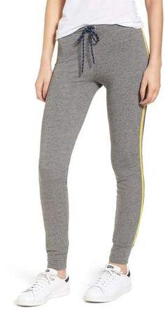 Sundry Stripe Trim Skinny Sweatpants In Heather Grey Sleepwear Women, Pajamas Women, Women's Loungewear, Grey Palette, Athletic Pants, Jogger Pants, Best Brand, Night Gown, Lounge Wear