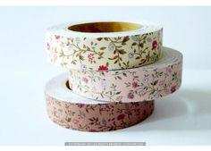 mini mums floral decorative fabric tape