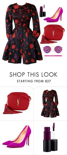 """Floral Brocade"" by cherieaustin ❤ liked on Polyvore featuring Yves Saint Laurent, Christian Lacroix, MAC Cosmetics and Sigma"