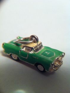 Sterling Silver Mini Enameled Cadillac Muscle Car Charm Pendant Fine Jewelry