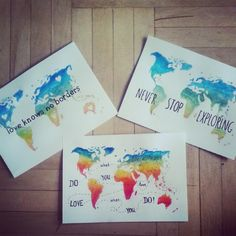 colorful map never stop exploring love knows no borders do what you love, love what you do posters by Karolina Sala