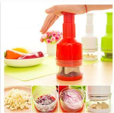 Top Kitchen accessories Garlic Crusher Practical Vegetable Garlic Presses Onion Cutter Chopper Kitchen Tool Gadget Random Color