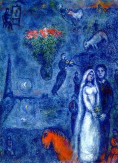 "Marc Chagall: ""Artist and His Bride"", 1980. (Private Collection)"