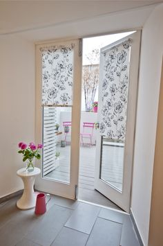 French door blinds or shutters for privacy / warmth in winter