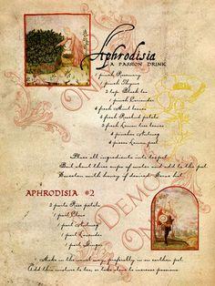 Aphrodisia page - replica of PM book page                                                                                                                                                                                 More