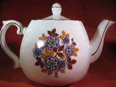 Vintage Ironstone Teapot/English Ironstone Teapot/ Wood & Sons Teapot by iLikeEclectic on Etsy