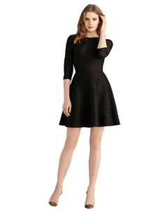 Pleated Fit and Flare Dress | Lord and Taylor