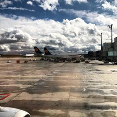 Arrival  #munich #airport #airplane #airplanes #lh #lufthansa #sky #clouds #tarmac #frequentflyer #lh #airbus