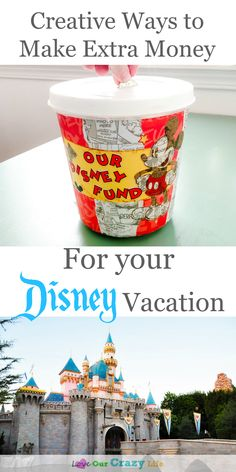 Creative ways to make extra money to help pay for Disney vacations. Save money on Disneyland and Walt Disney World. Great tips and ideas. Watch your vacation fund grow! Disney On A Budget, Disney World Planning, Walt Disney World Vacations, Disney Parks, Disney Land, Disney Travel, Solo Travel, Disney World Tips And Tricks, Disney Tips
