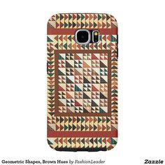 Geometric Shapes, Brown Hues Samsung Galaxy S6 Cases