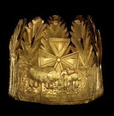 (Togo) Gold Crown from the Ewe people of Ghana and Togo. Africa