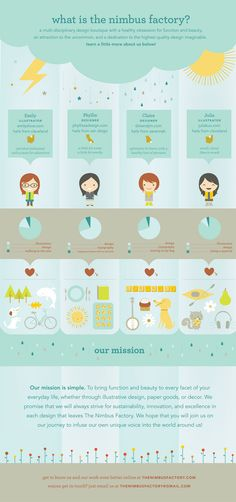 Cute and creative infographic design