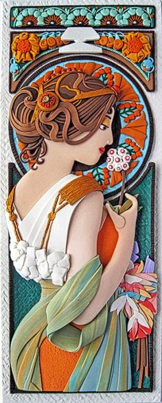 Colorado artist/illustrator Tammy Durham is revisiting her favorite classic painters in polymer. Currently she is paying homage to Alphonse Mucha. Czech painter Mucha was one of the leaders of French Art Nouveau beginning in These panels [. Polymer Clay Painting, Polymer Clay Sculptures, Polymer Clay Projects, Polymer Clay Creations, Polymer Clay Jewelry, Ceramic Painting, Clay Box, 3d Figures, Art Pictures