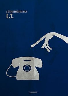 E.T. the Extra-Terrestrial (1982) ~ Minimal Movie Poster by Quim Marbet