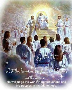 Jesus Christ Introducing Raptured Saints to God